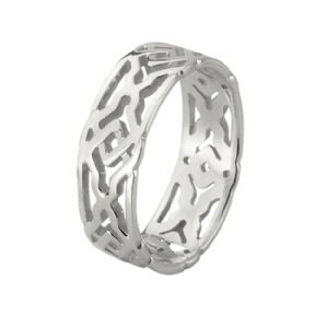 Celtic Knotwork Silver Ring 0753